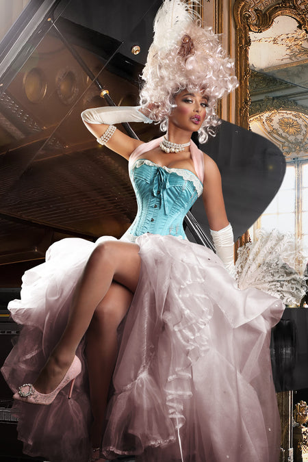 Vintage Style Lace Flossed Corset