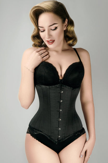 Long Line Expert Waist Training Underbust Corset Black