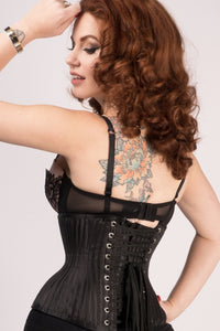 Expert Waist Training Black Striped Underbust With Gores