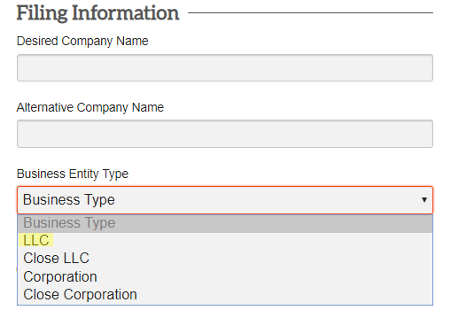 filling WY LLC information form