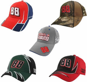 Many Dale Earnhardt Jr. Hats