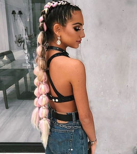 Braid in Colored Hair Extensions