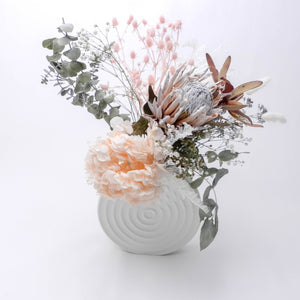 Dried Floral Brillance // Ceramic Vase