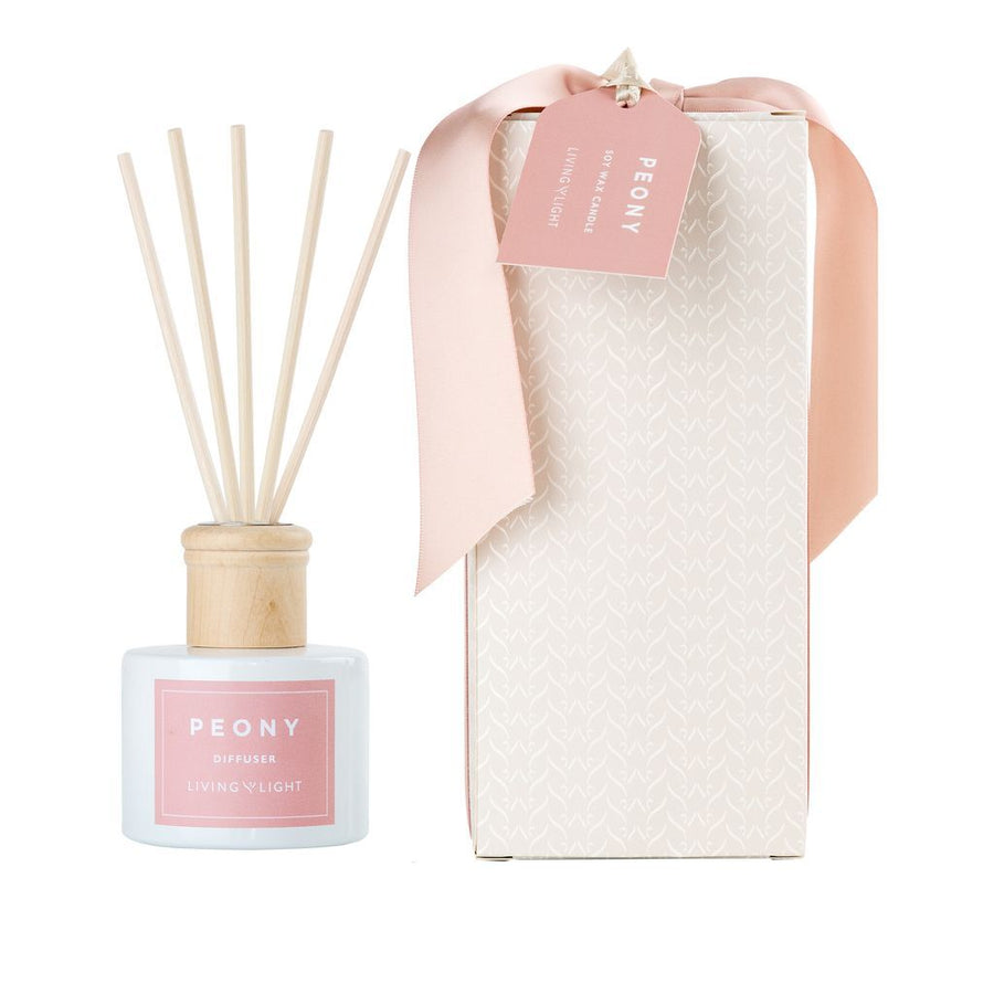 Living Light Candles And Diffusers / Peony Range