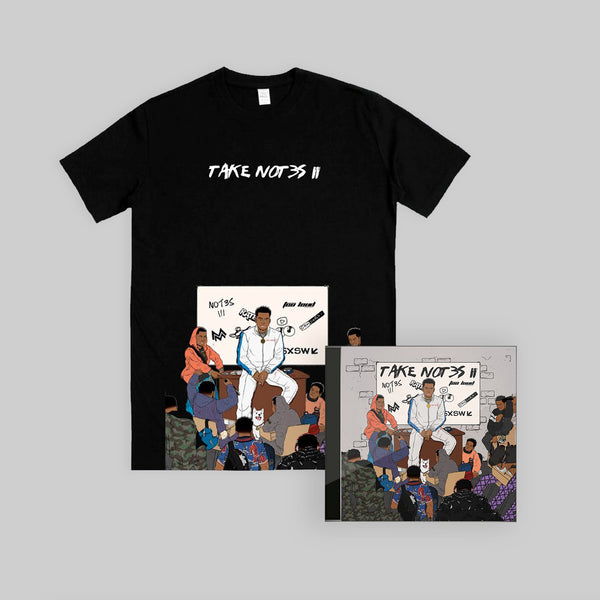Take Not3s II Bundle - Black T-Shirt +  CD + free post-it
