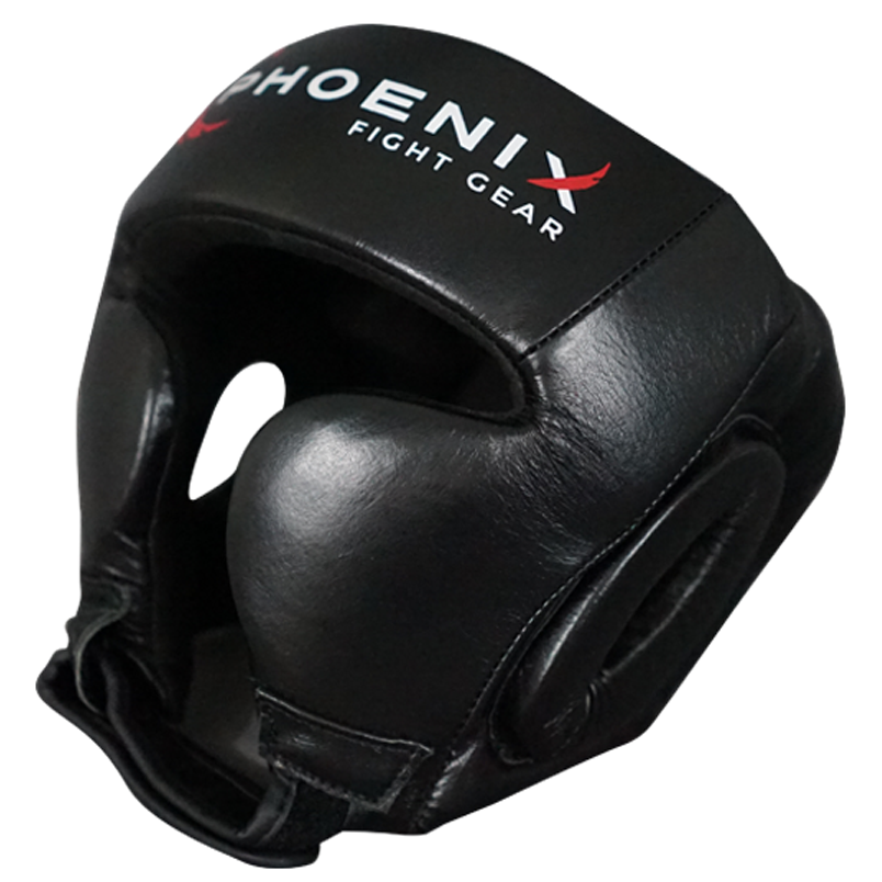 Flight Headgear with Cheek Protection - Black