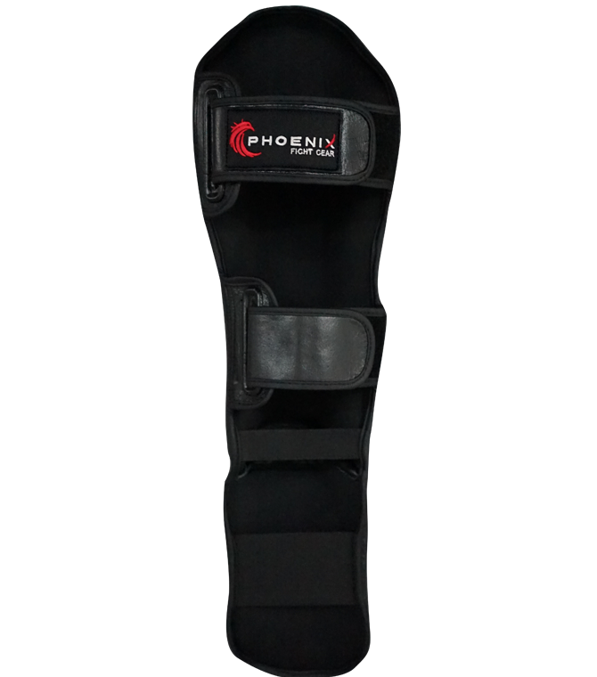 Flight Shin Guards with Extra Padding - Black