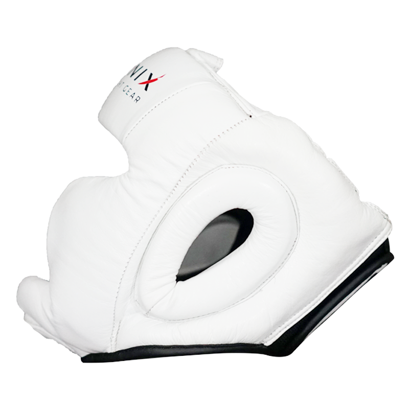 Flight Headgear with Cheek & Chin Protection - White