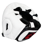 Flight Headgear with Cheek Protection - White