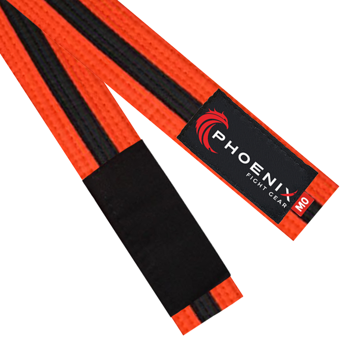 BJJ Belt - Orange/Black