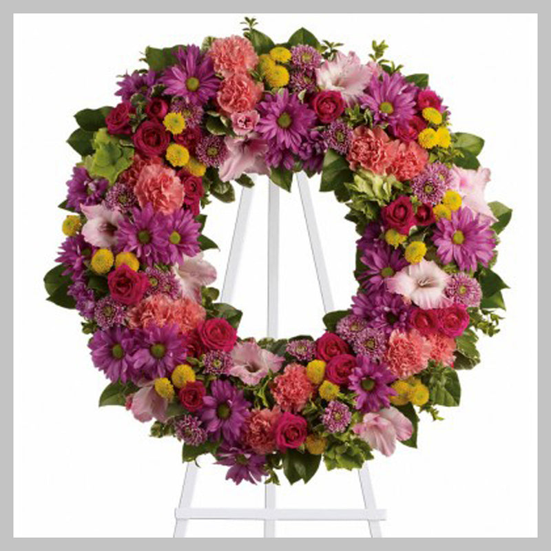 CLASSIC  BRIGHT WREATH FLORIST CHOICE