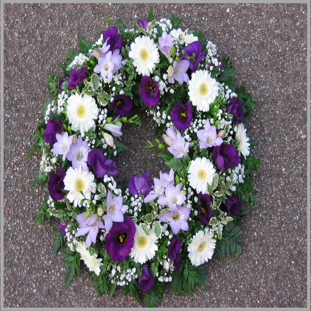 MIXED WREATH PURPLES AND WHITES