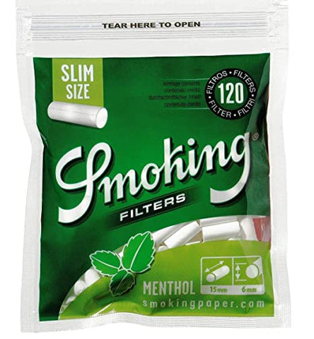 Smoking filters menthol