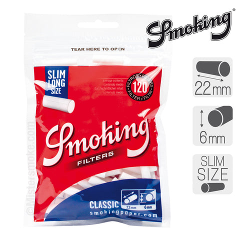 Smoking filters slim and long