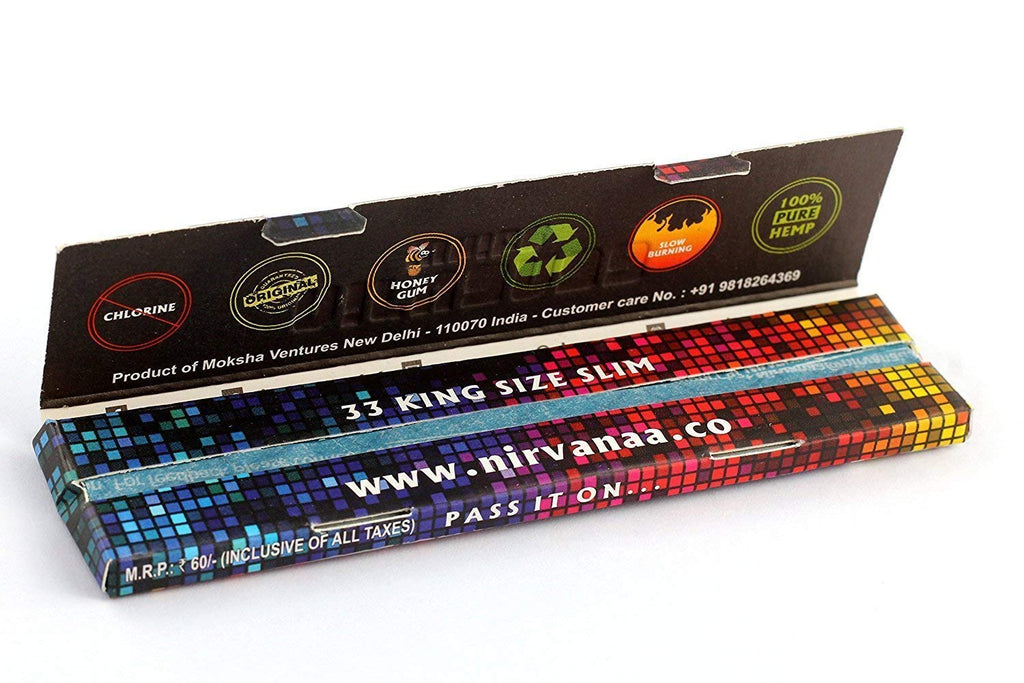 NIRVANA Brown King Size Rolling Paper.
