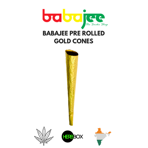 Babajee's 24k Pre Rolled Gold Cones