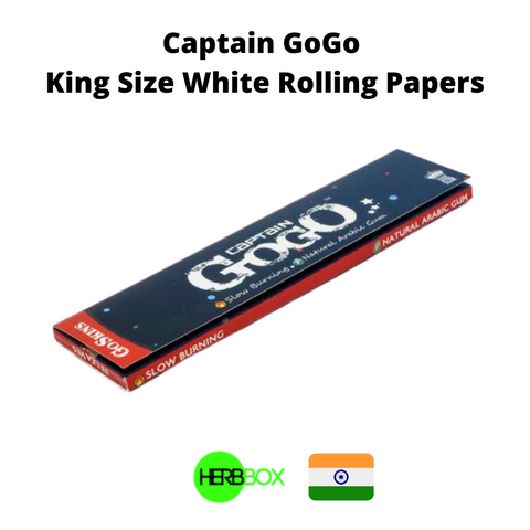 Captain GoGo King Size White Rolling Papers in India
