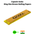 Captain GoGo King Size Brown Rolling Papers in India