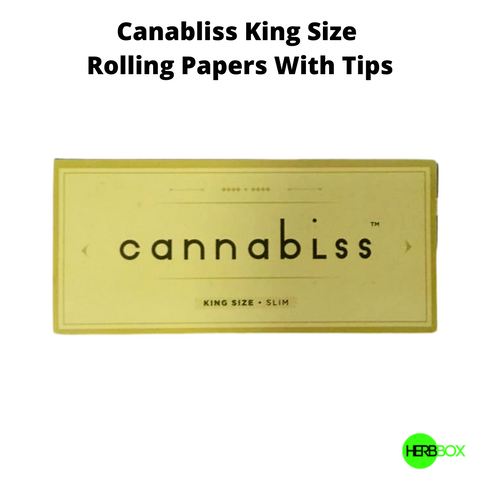 Canabliss Rolling Papers with Filter Tips Online in India