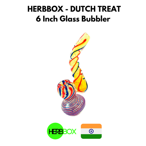 HERBBOX - Dutch Treat 6 Inch Glass Bubbler
