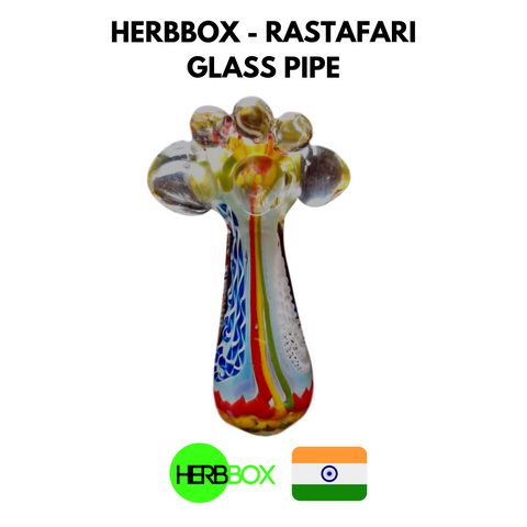 HERBBOX - Rastafari Glass Pipe