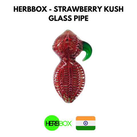 HERBBOX - Strawberry Kush Glass Pipe