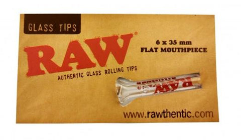 Raw Glass Tips - Flat Mouthpiece