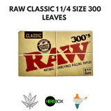 RAW CLASSIC 1 1/4 SIZE 300 LEAVES