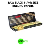RAW Black 1 1/4th Size  Rolling Papers