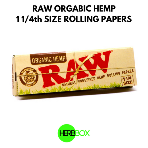 RAW Organic Hemp 1 1/4th Size Rolling Papers