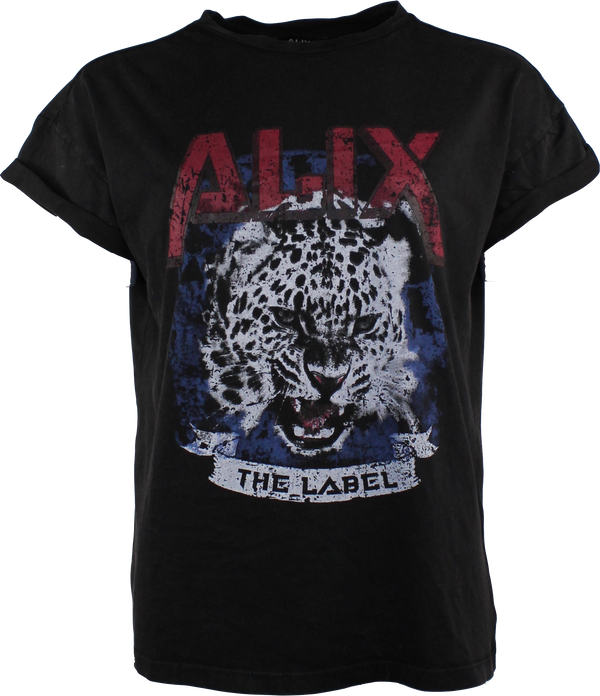 Alix the Label T-shirt med leopard tryck