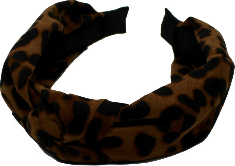 Black colour diadem leo print