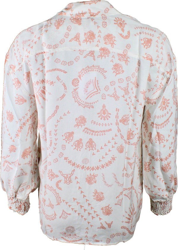 Alix the Label blus med rosa mönster