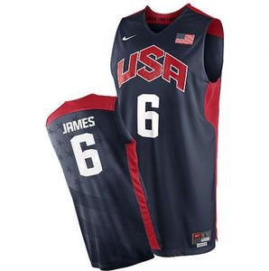 KING JAMES USA Basketball Jersey (Home and Away)