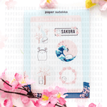 Mika Cherry Blossom Themed Sticker Pack
