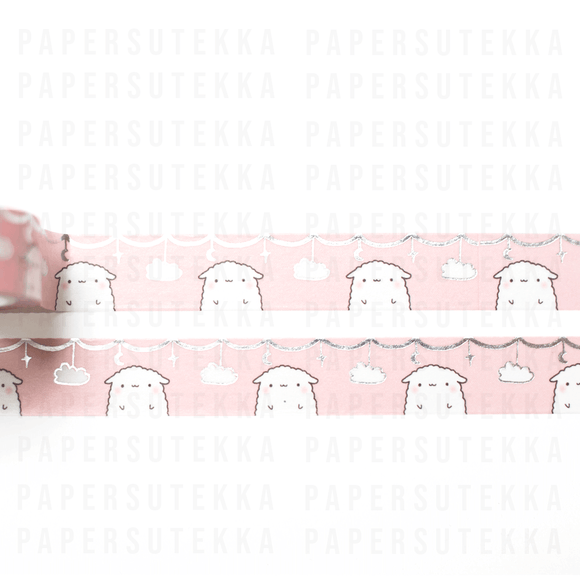 Mika Foiled Clouds and Stars Washi Tape - Paper Sutekka Kawaii Shop