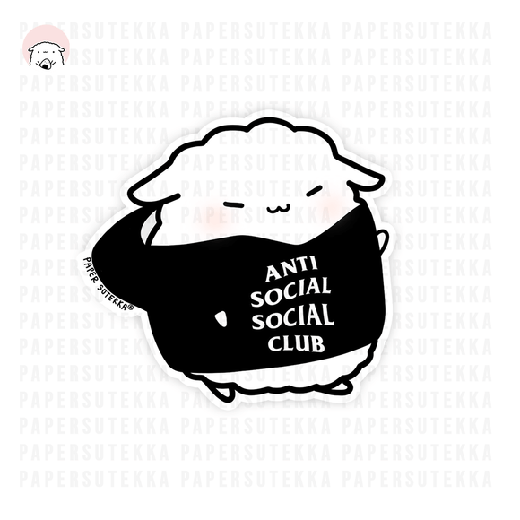 Mika Anti Social Social Club Hoodie Vinyl Sticker