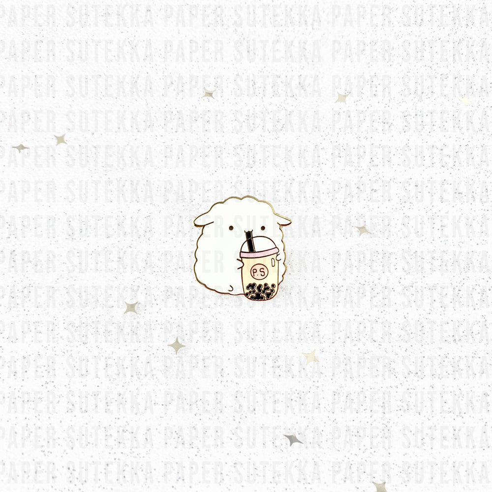 Load image into Gallery viewer, Mika Boba Cup Enamel Pin - Paper Sutekka