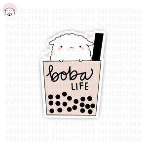 Load image into Gallery viewer, Mika Boba Life Vinyl Sticker - Paper Sutekka
