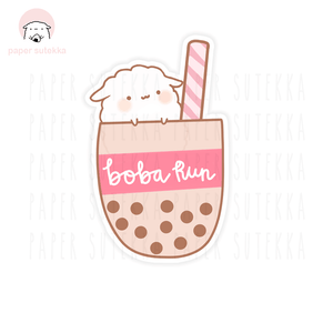 Mika Boba Run Vinyl Sticker