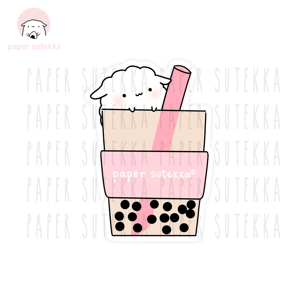 Load image into Gallery viewer, Mika Boba Drink Vinyl Sticker