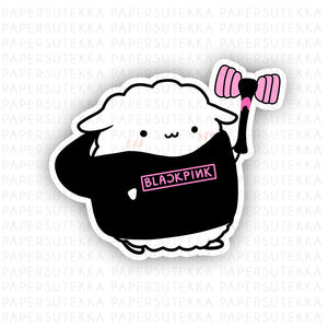 Load image into Gallery viewer, Mika BlackPink Hoodie Vinyl Sticker