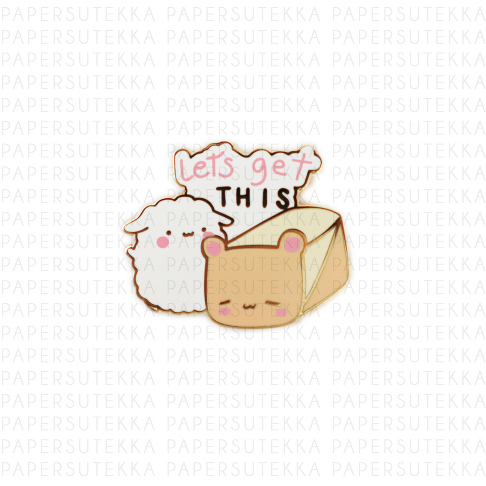 Mika Lets get this Bread Enamel Pin