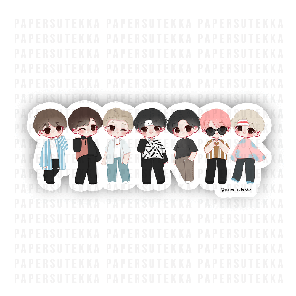 BtS Inspired Chibi Vinyl Sticker