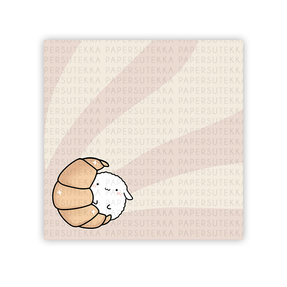 Load image into Gallery viewer, Mochi Croissant Memo Pad - Paper Sutekka