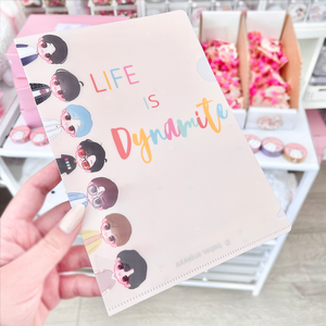 Life is Dynamite Clear File Folder