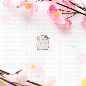 Load image into Gallery viewer, Mika Cherry Blossom Enamel Pin