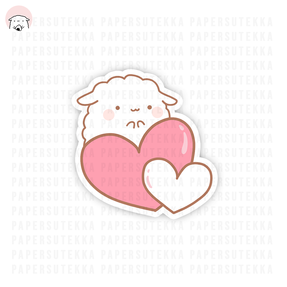 Load image into Gallery viewer, Mika Double Pink Heart Vinyl Sticker - Paper Sutekka