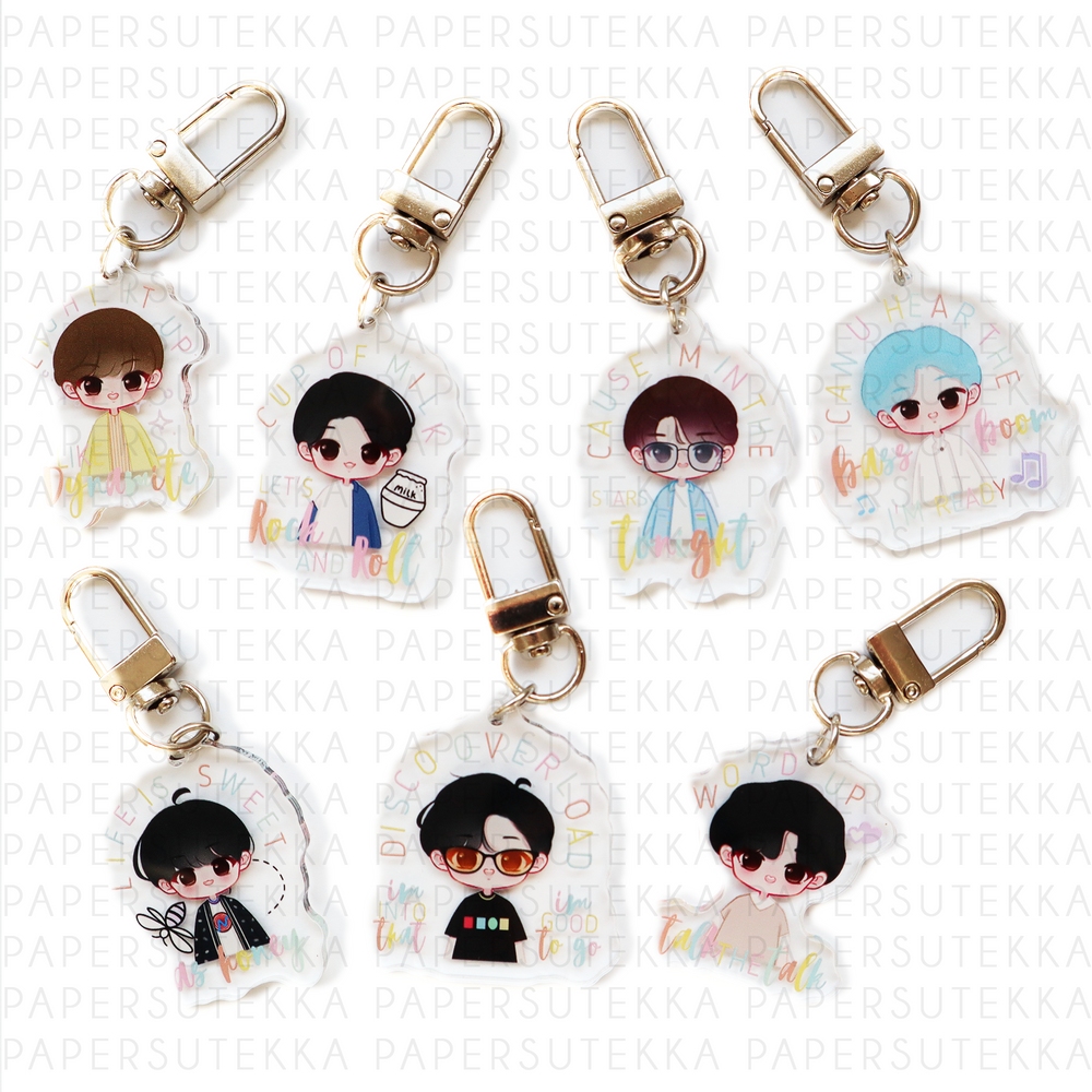 BTS Dyanmite Inspired Acrylic Keychains