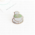 Mika Love U So Matcha Enamel Pin